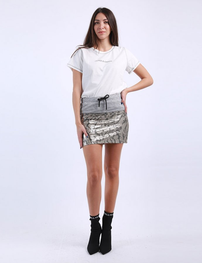 KK Tiger sequin skirt