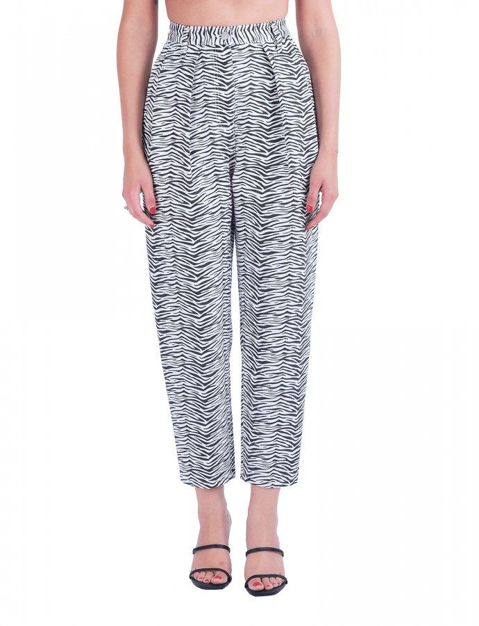 Marcella S/W zebra denim pants