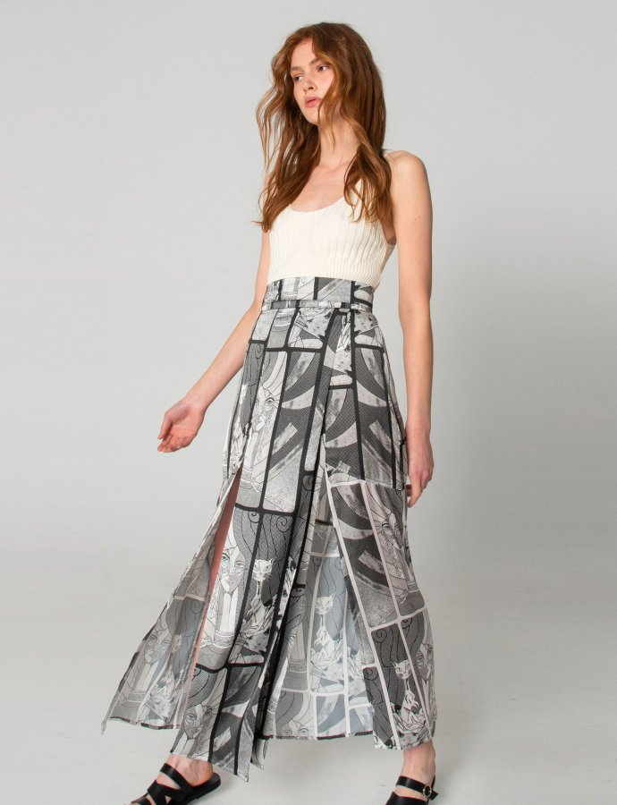 Roy B&W skirt