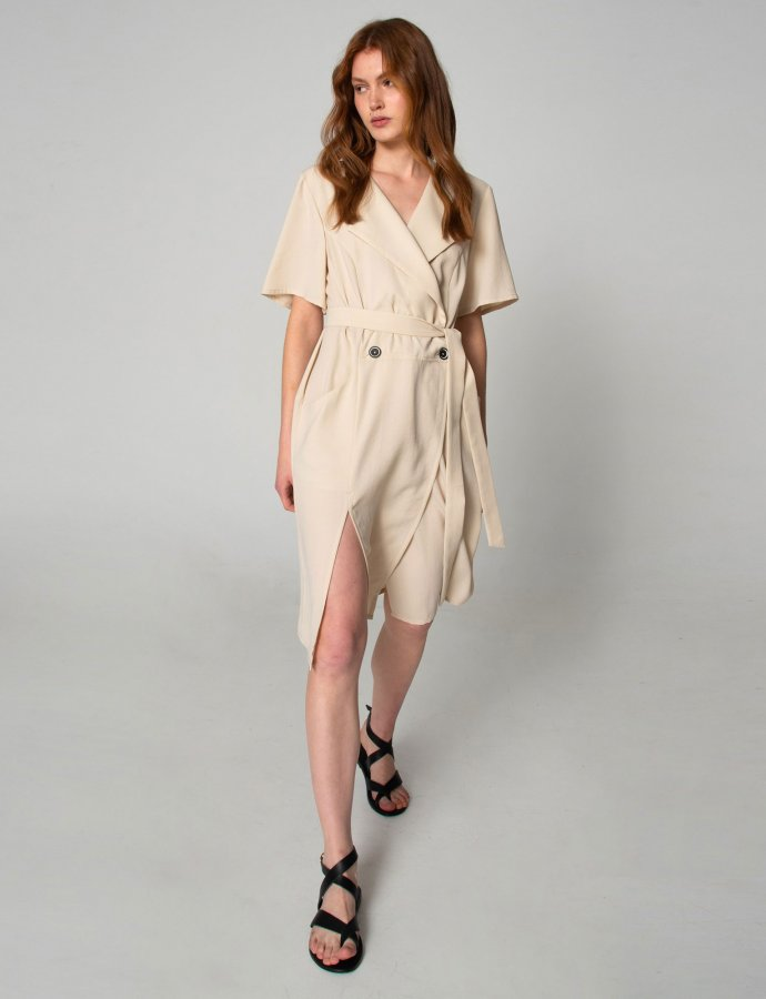 Shades of Sahara beige suit/dress