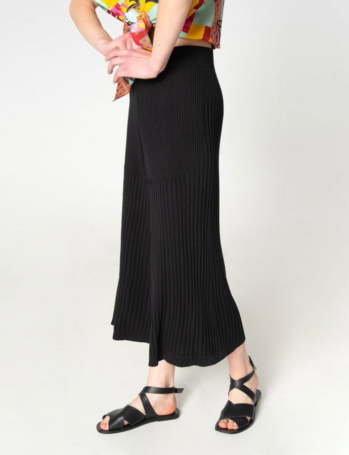 Tribes of knit pants black