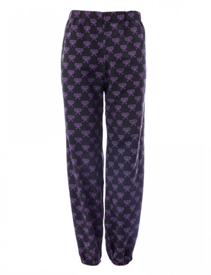 Steeze rackets black/lilac track pants