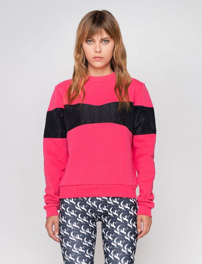 Georgia fuchsia/black sweatshirt