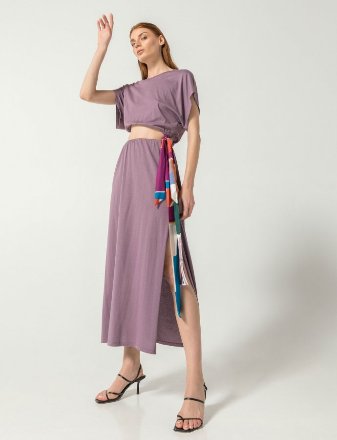 Atene co-ords 2 in 1 dress lavender