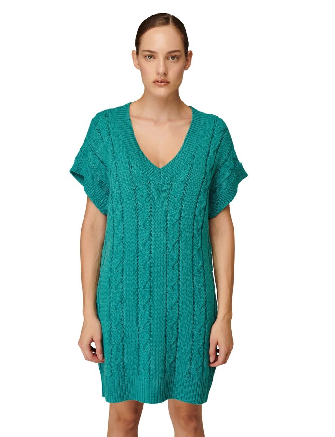 W-205 cyan blue dress