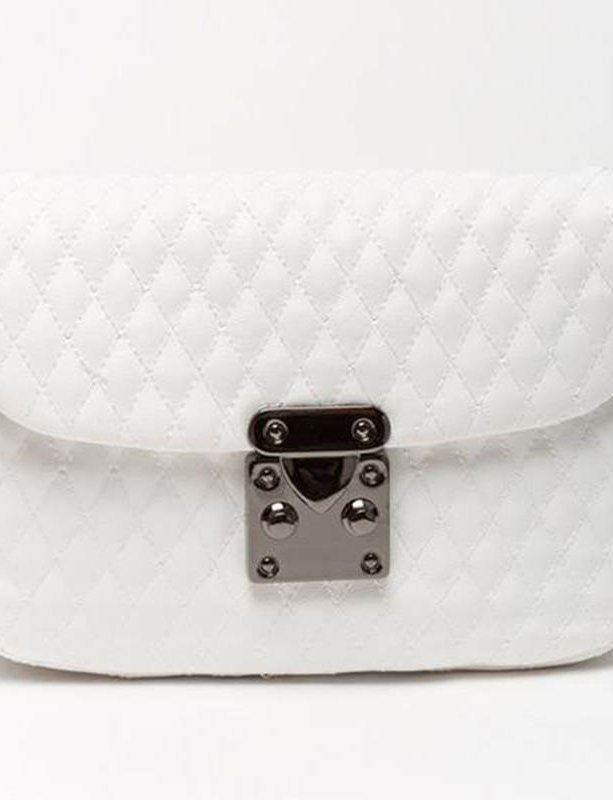 City lady white belt bag